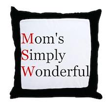 Mom's Simply Wonderful Throw Pillow