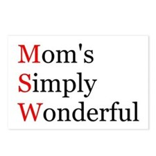 Mom's Simply Wonderful Postcards (Package of 8)