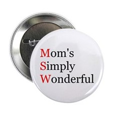 Mom's Simply Wonderful Button