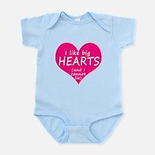 I Like Big Hearts Infant Bodysuit