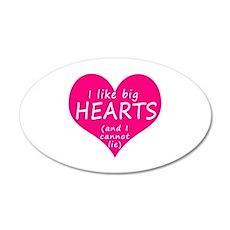 I Like Big Hearts Wall Decal