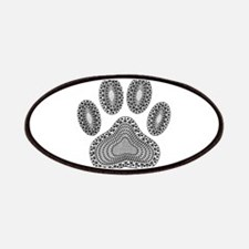 Tribal Dog Paw Print Patches