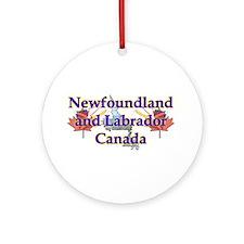Newfoundland and Labrador Ornament (Round)