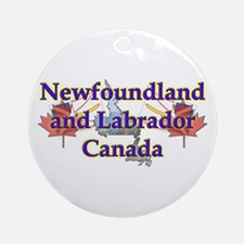 Newfoundland and Labrador Ornament (Round)