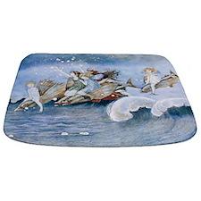 Vintage Sea Fairies Kids Bathmat