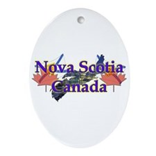 Nova Scotia Oval Ornament