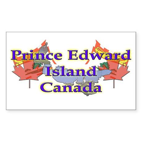 Prince Edward Island Rectangle Sticker