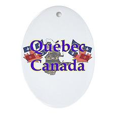 Québec Oval Ornament