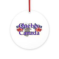 Québec Ornament (Round)