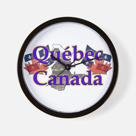 Québec Wall Clock