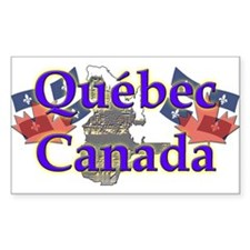 Québec Rectangle Decal