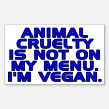Animal cruelty - Sticker (Rectangle)