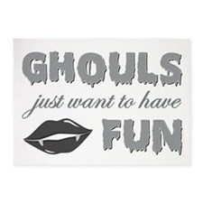 GHOULS JUST WANT 5'x7'Area Rug