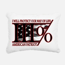 Funny American patriot Rectangular Canvas Pillow