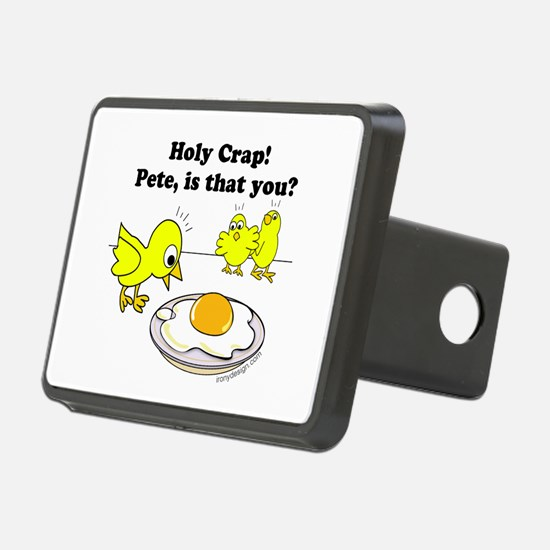 Holy Crap Pete Chick Egg C Rectangular Hitch Cover