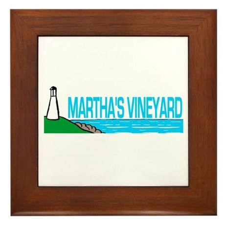 Martha's Vineyard Lighthouse Framed Tile