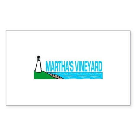 Martha's Vineyard Lighthouse Rectangle Sticker