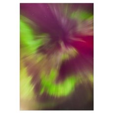 Northern Lights Corona In The Sky Above The Tony K Framed Print