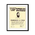 Wanted Pacho Villa Framed Panel Print