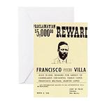 Wanted Pacho Villa Greeting Cards (Pk of 10)