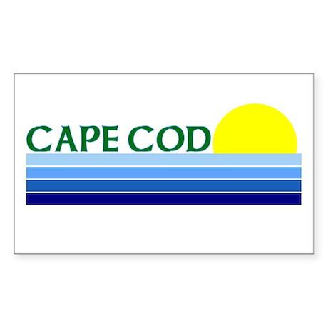 Cape Cod Rectangle Sticker