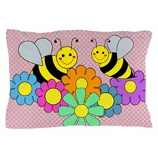 Bumble Bees Flowers Pillow Case
