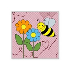 Bumble Bees Flowers Hearts Sticker