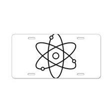 Atom Planetary Model Aluminum License Plate