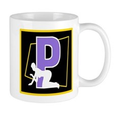Naughty Initial design (P) Mugs
