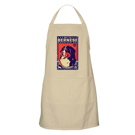 Obey the Bernese Mountain Dog! BBQ Apron