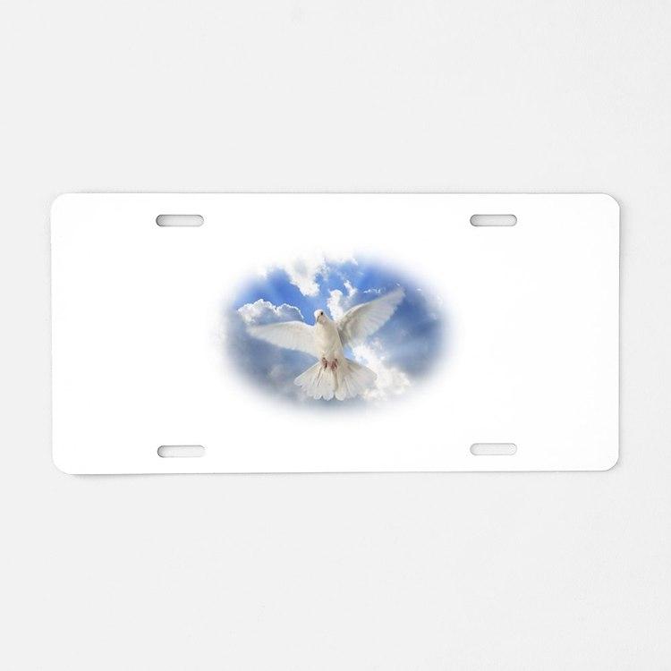 dove Aluminum License Plate