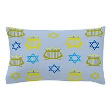 Menorah and Star Pillow Case