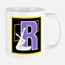 Naughty Initial Design (R) Mugs