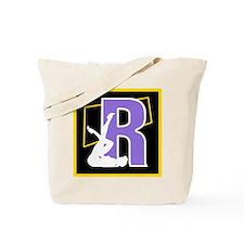 Naughty Initial Design (R) Tote Bag