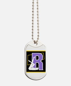 Naughty Initial Design (R) Dog Tags