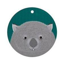 Wombat Ornament (round)