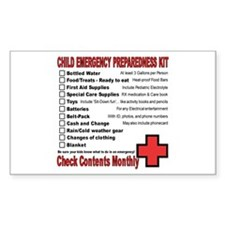 CHILD Emergency Preparation Rectangle Decal