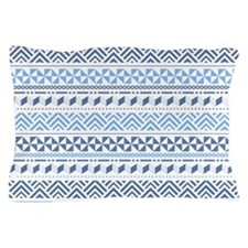 Tribal Blue Pattern Pillow Case