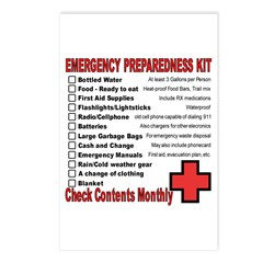 Emergency Preparation listcards (Pack of 8)