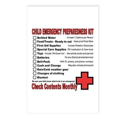 CHILD Emergency Preparation Listcards (Pack of 8)