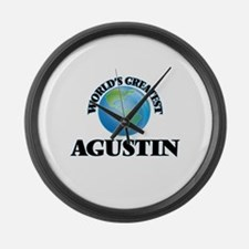 World's Greatest Agustin Large Wall Clock