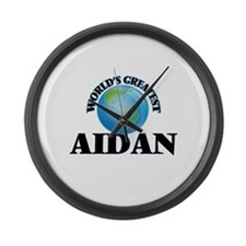 World's Greatest Aidan Large Wall Clock