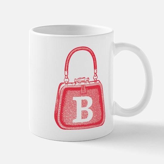 Monogram Vintage Pink Purse Graphic Mug