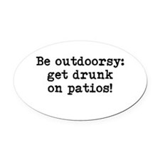 Outdoorsy Oval Car Magnet