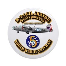 Aac - 43rd Bg - 63rd Bs - 5th Af Ornament (round)