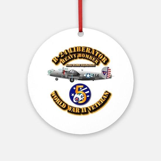 Aac - 43rd Bg - 63rd Bs - 5th Af Ornament (round)