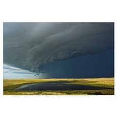 Shelf cloud with thunderstorm over Grasslands Nati Poster