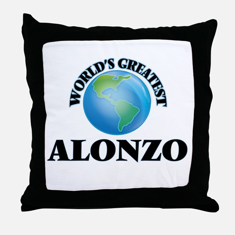 World's Greatest Alonzo Throw Pillow