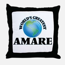 World's Greatest Amare Throw Pillow