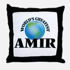 World's Greatest Amir Throw Pillow
